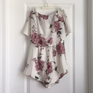 Reverse Strapless Romper In Small NWT!